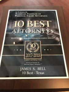 American Institute of Legal Counsel Personal Injury Award Texas
